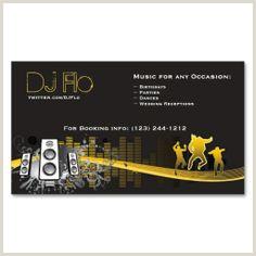 Business Card Setup 20 Business Cards For Djs Ideas