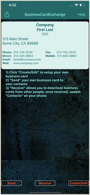 Business Card Setup Business Card Exchange On The App Store