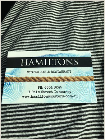 Business Card Setup Wedding Setup Picture Of Hamilton S Oyster Bar Tuncurry