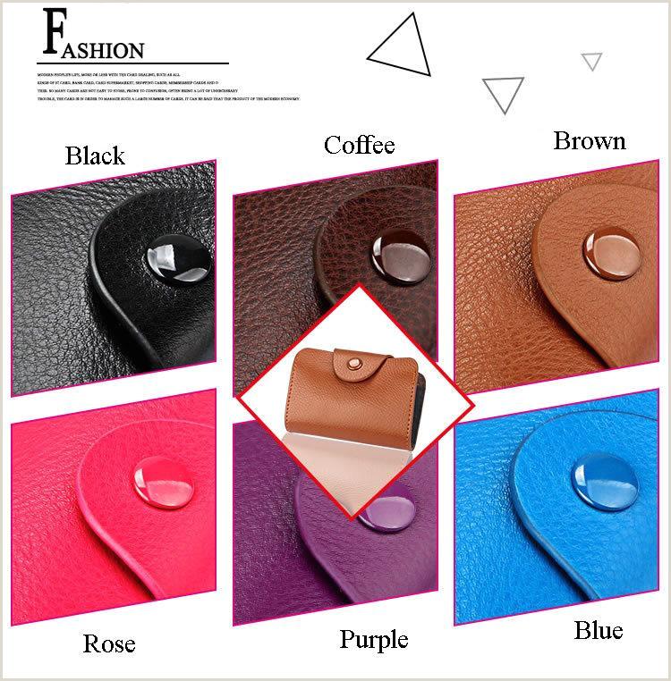 Business Card Simple Simple Design Uni Organ Business Card Holder Genuine Leather Bank Card Case Fashion Hasp Wallet Coin Purse Sugar Color Designer Leather