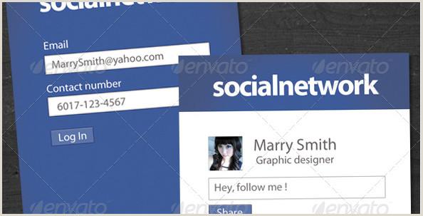 Business Card Social Media 15 Stylish Social Media Business Cards Designs