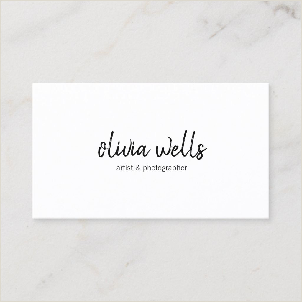 Business Card Social Media Simple White Handwritten Social Media Icons Business Card