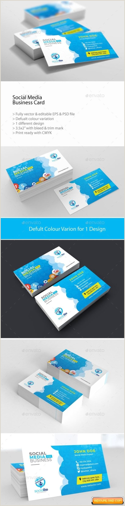 Business Card Social Media Social Media Business Card Free Download