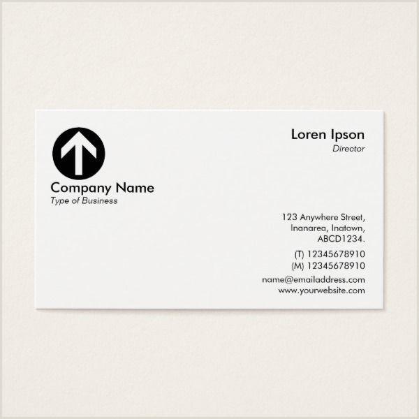 Business Card Symbols Arrow Symbol Logo White Business Card