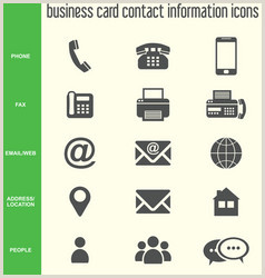 Business Card Symbols Business Card Phone Email Icon Vector Over 3 000