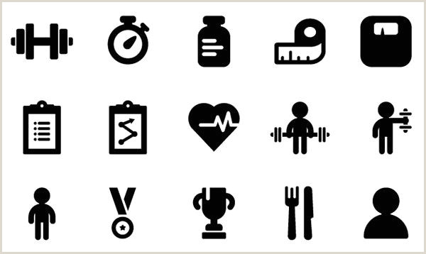 Business Card Symbols Fitness Icons Free Vector Site