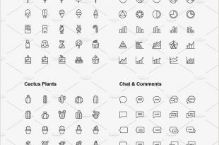 Business Card Symbols Ultimate Line Icons Pack