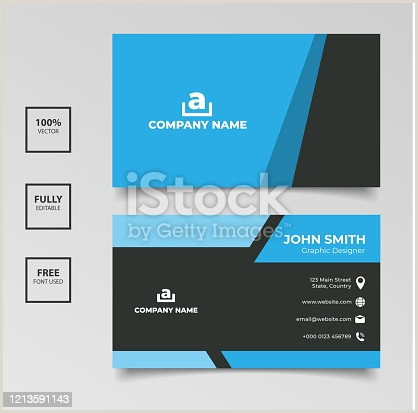 Business Card Template Front And Back Free Of Business Card Front And Back Side Vector