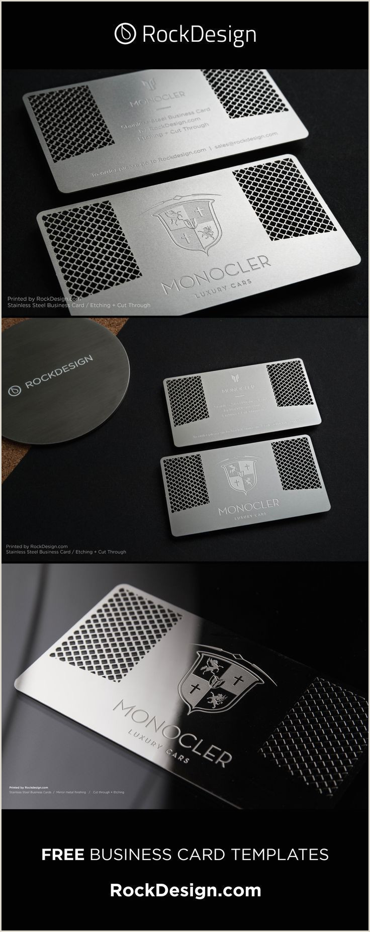 Business Card Template Front And Back Modern And Sharp The Monocler Business Card Template Has