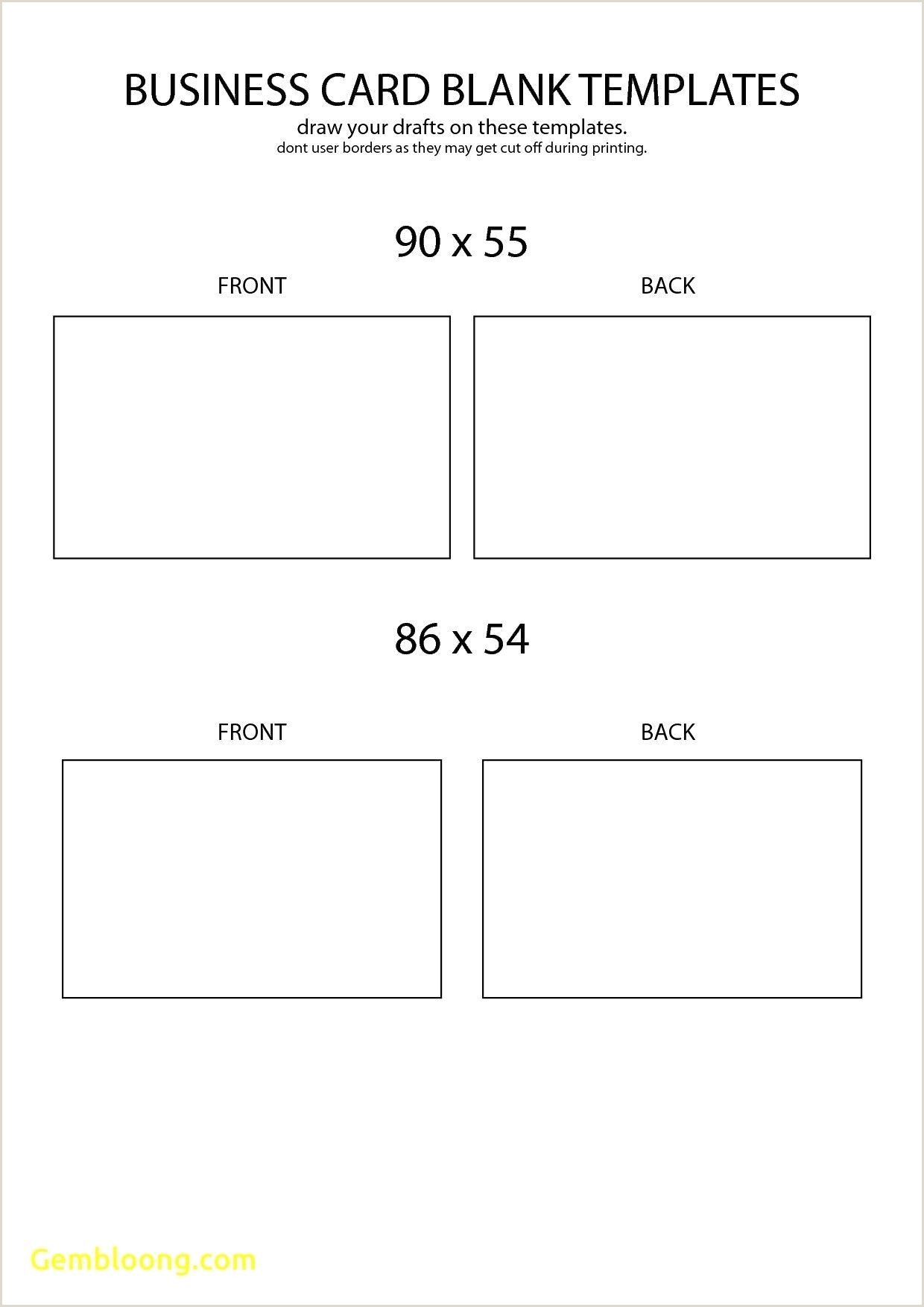 Business Card Template Front And Back The Marvellous 003 Business Card Blank Template Free