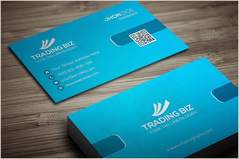 Business Card Template Front And Back Trading Biz Business Card In 2020