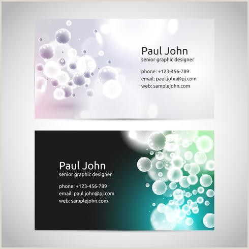 Business Card Template Front And Back Vector Business Card Template Front And Back Download Free