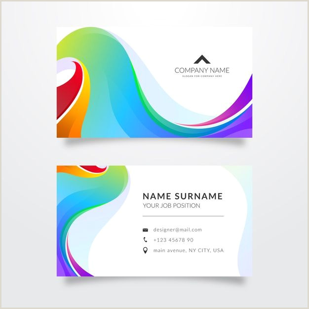 Business Card Template With Logo Download Brilliant Abstract Business Card Template For Free