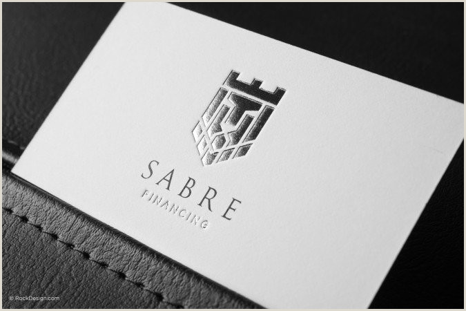 Business Card Template With Logo Free Emboss & Foil Business Card Templates