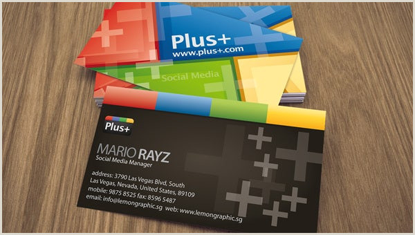 Business Card Template With Social Media Icons 13 Social Media Business Card Templates Psd Word Ai