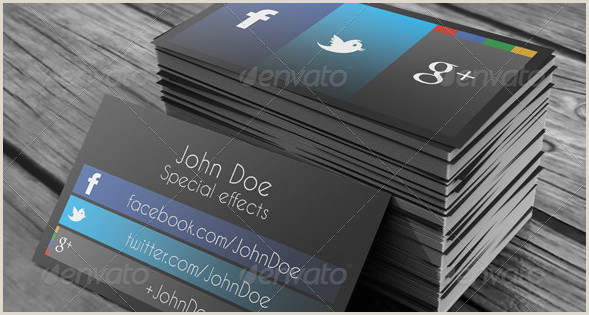 Business Card Template With Social Media Icons 15 Stylish Social Media Business Cards Designs