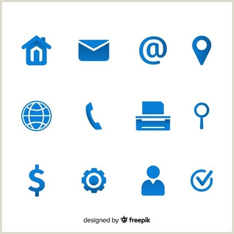 Business Card Template With Social Media Icons 7 076 Business Card Icons