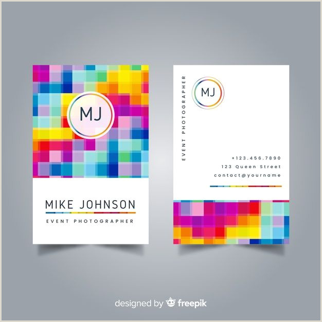 Business Card Template With Social Media Icons Business Card Template
