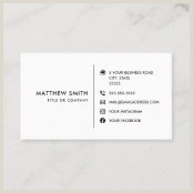 Business Card Template With Social Media Icons Business Card Template With Social Media Icons