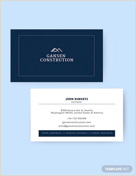 Business Card Template Word 2020 17 Business Card Templates Word Psd Publisher