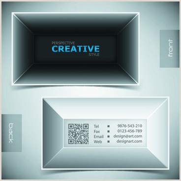 Business Card White Background Blue Business Card White Background Free Vector