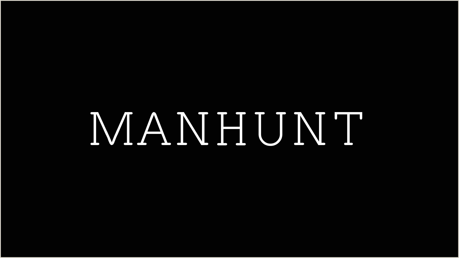 Business Card White Background Manhunt 2019 Tv Series