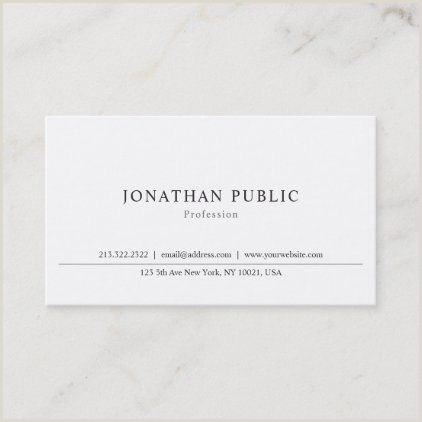Business Card White Background Modern Minimalist Professional Simple Template Business Card