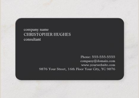 Business Card White Background Simple Classic Elegant Black and White Consultant Business