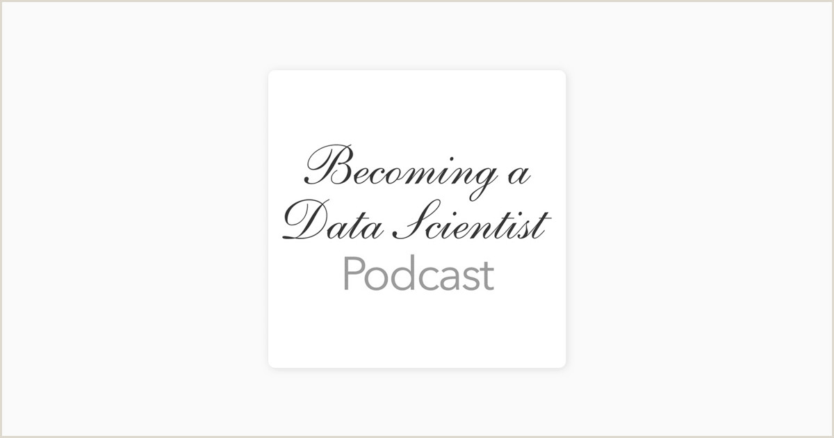 Business Card White Be Ing A Data Scientist Podcast Be Ing A Data Scientist