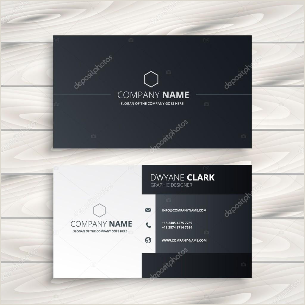 Business Card White Black And White Business Card