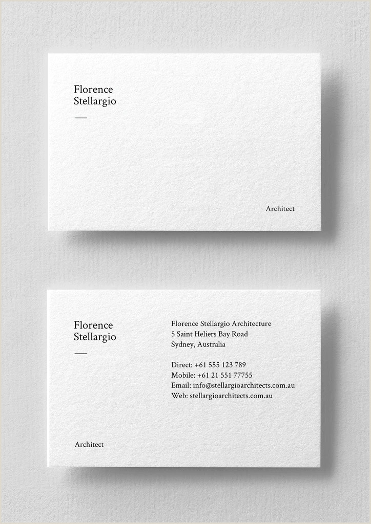 Business Card White Business Card Template