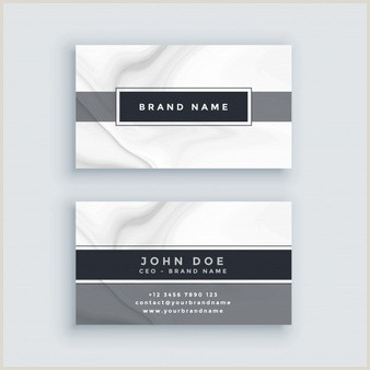 Business Card White Free Vector