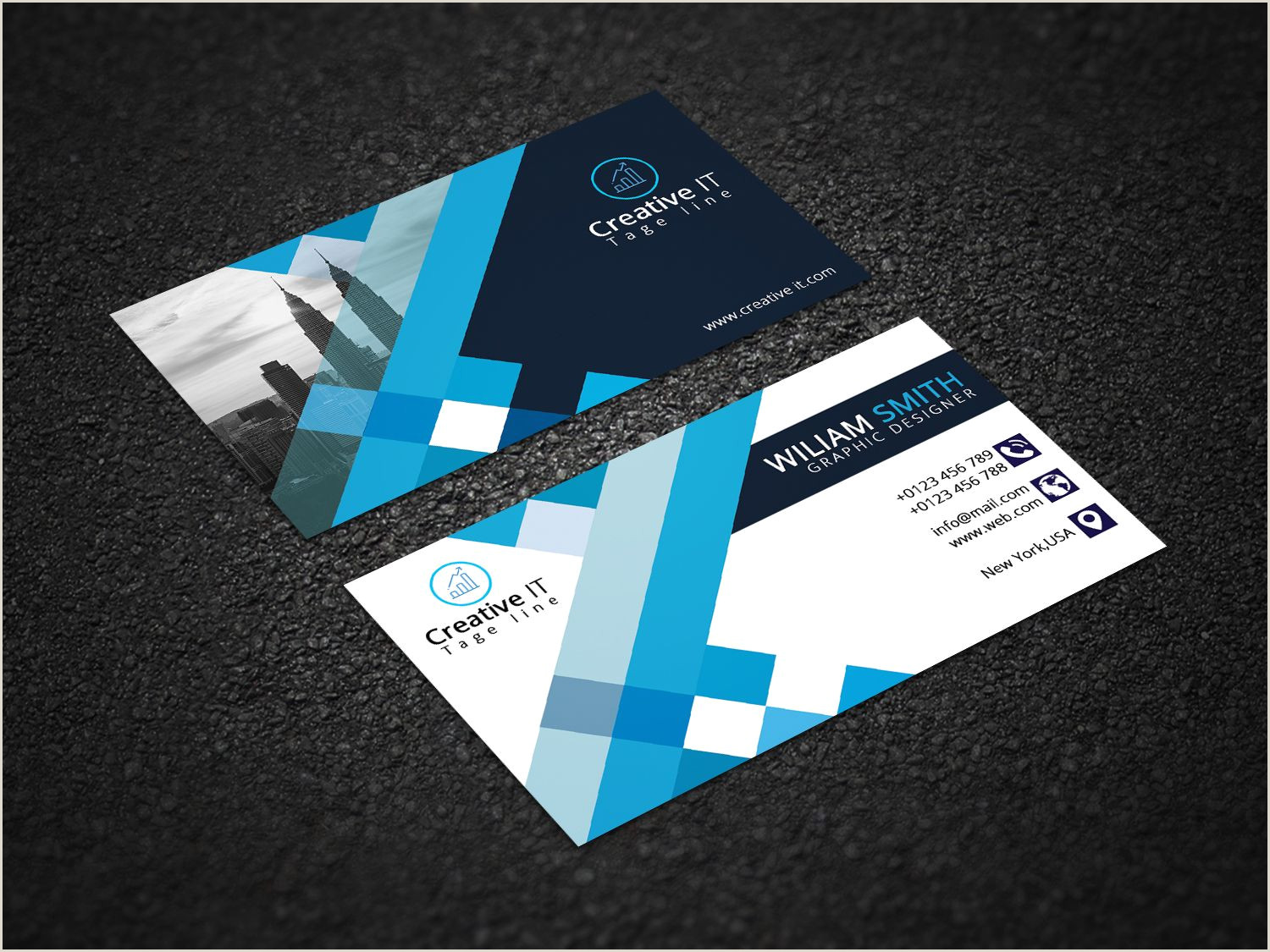 Business Card With 2 Logos Business Card Design