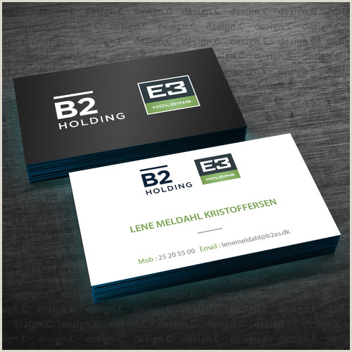 Business Card With 2 Logos Business Card For B2 Holding E3 Holding Both 2 Logos At The