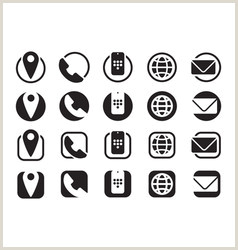 Business Card With 2 Logos Business Cards Icons Vector Over 430 000