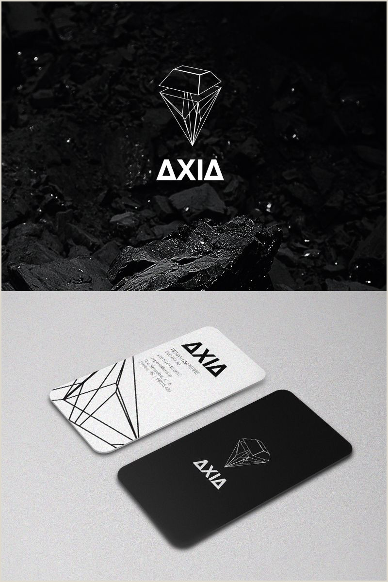 Business Card With Geometric Logo Dribbble Axia By Vincius Costa
