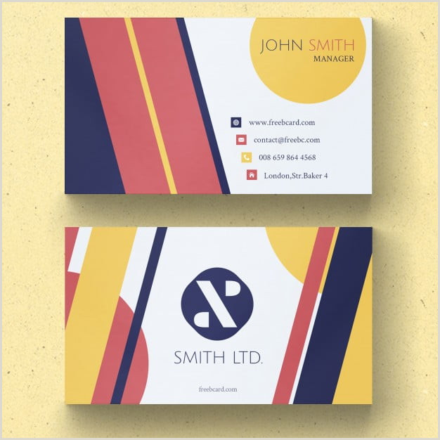 """Business Card With Geometric Logo E Stop Guide To """"business Card Design"""" Your First"""