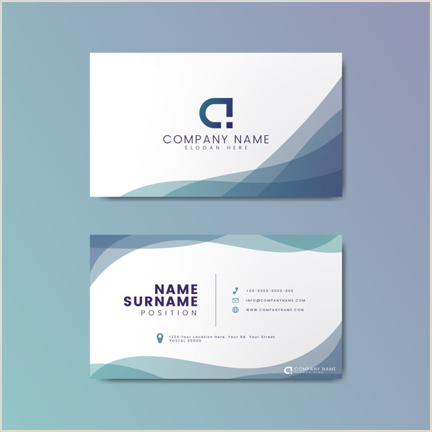 Business Card With Geometric Logo Free Vector