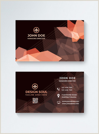 Business Card With Geometric Logo Geometric Business Card Template Image Picture Free