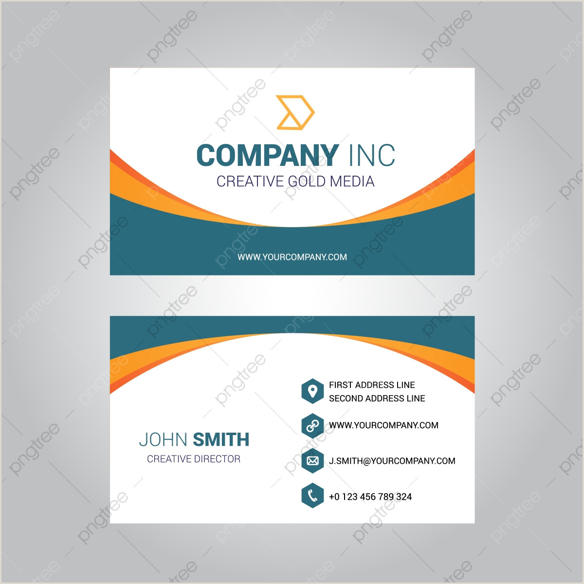 Business Card With Logo Template Business Card Design Png