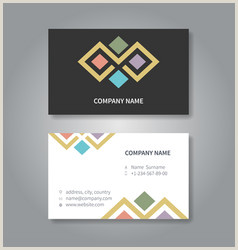 Business Card With Logo Template Executive Business Card Template Vector Over 390