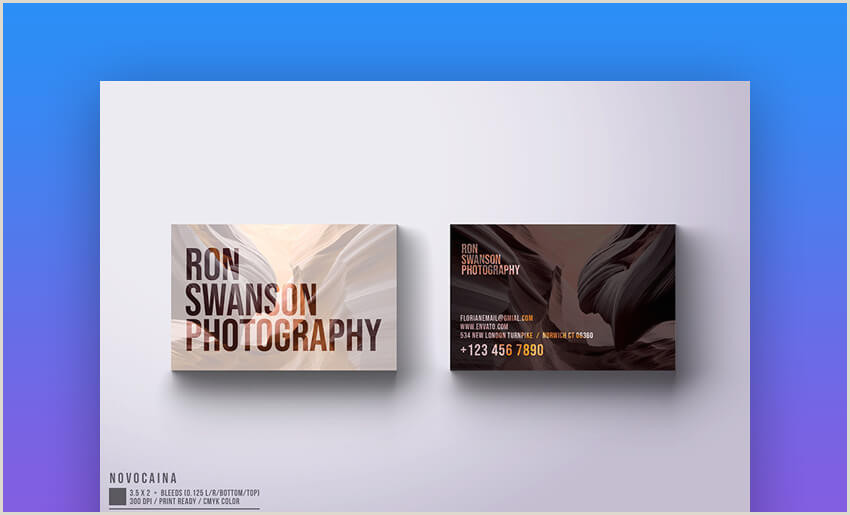 Business Card With Photo 18 Free Business Cards With Designs Shop Psd