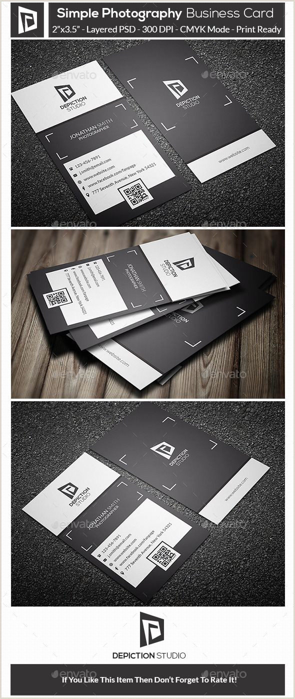 Business Card With Photo This Is A Simple Graphy Business Card This Template
