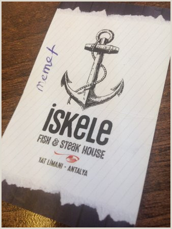 Business Card With Picture Business Card Picture Of Iskele Fish&steak House Antalya