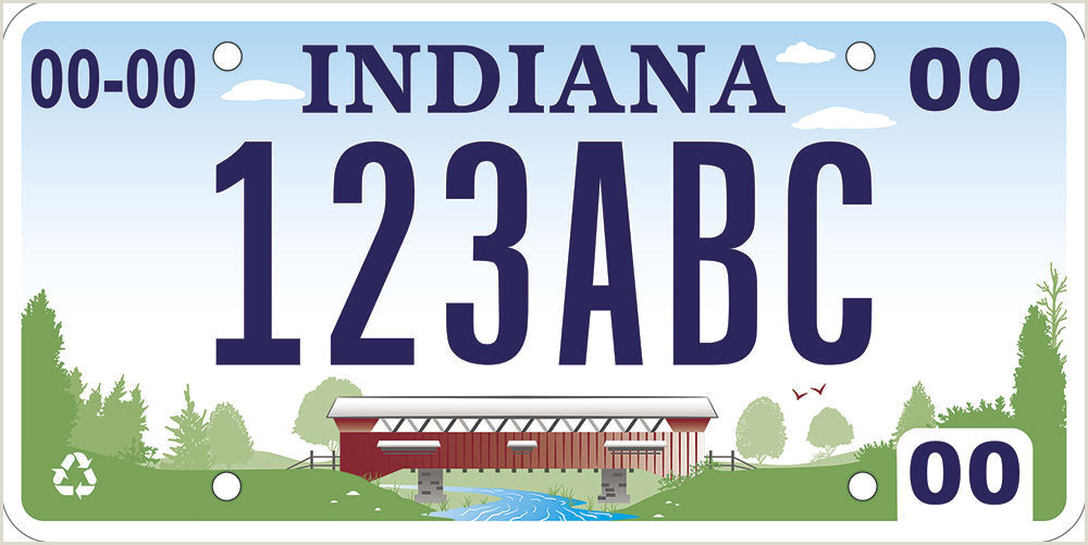 Business Card With Sticker On Back Indiana Unlikely To Eliminate License Plate Stickers And