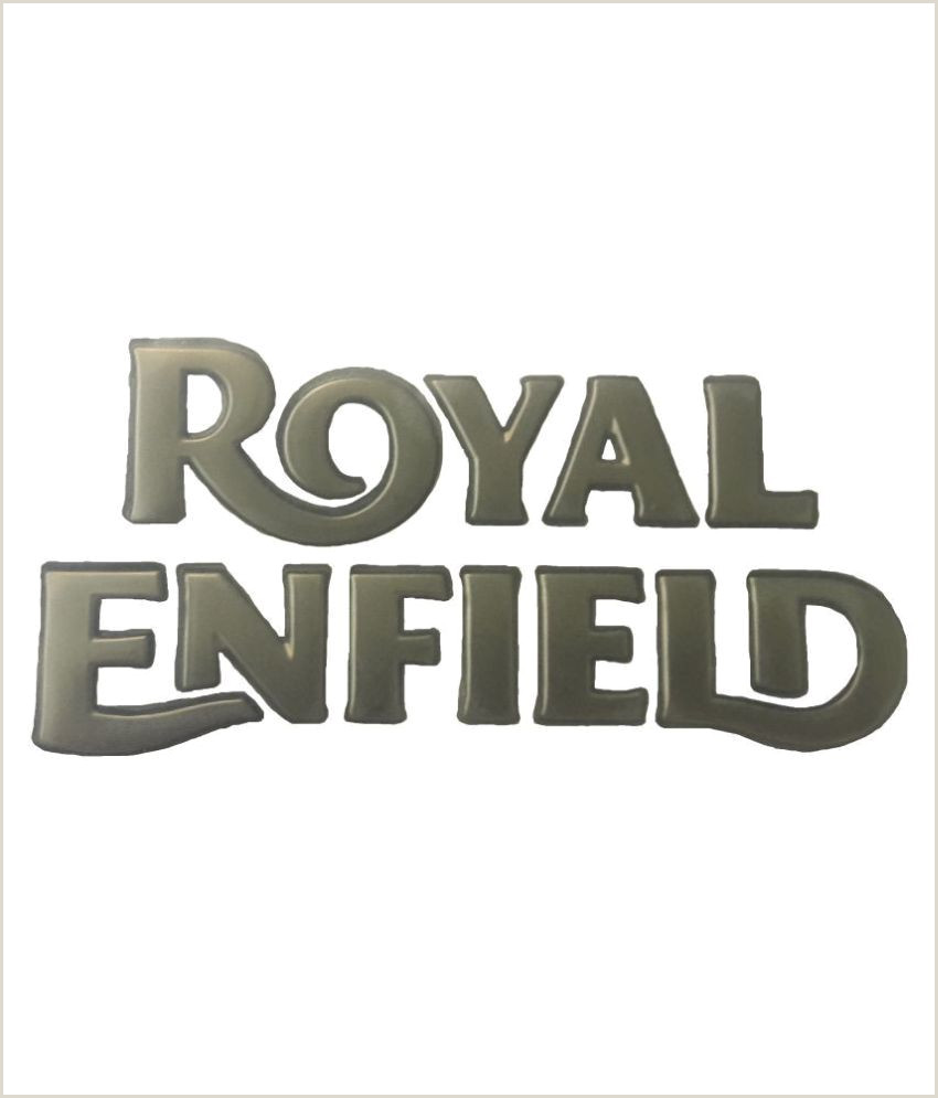 Business Card With Sticker On Back New Original Royal Enfield Logo Tank Sticker Golden Colour