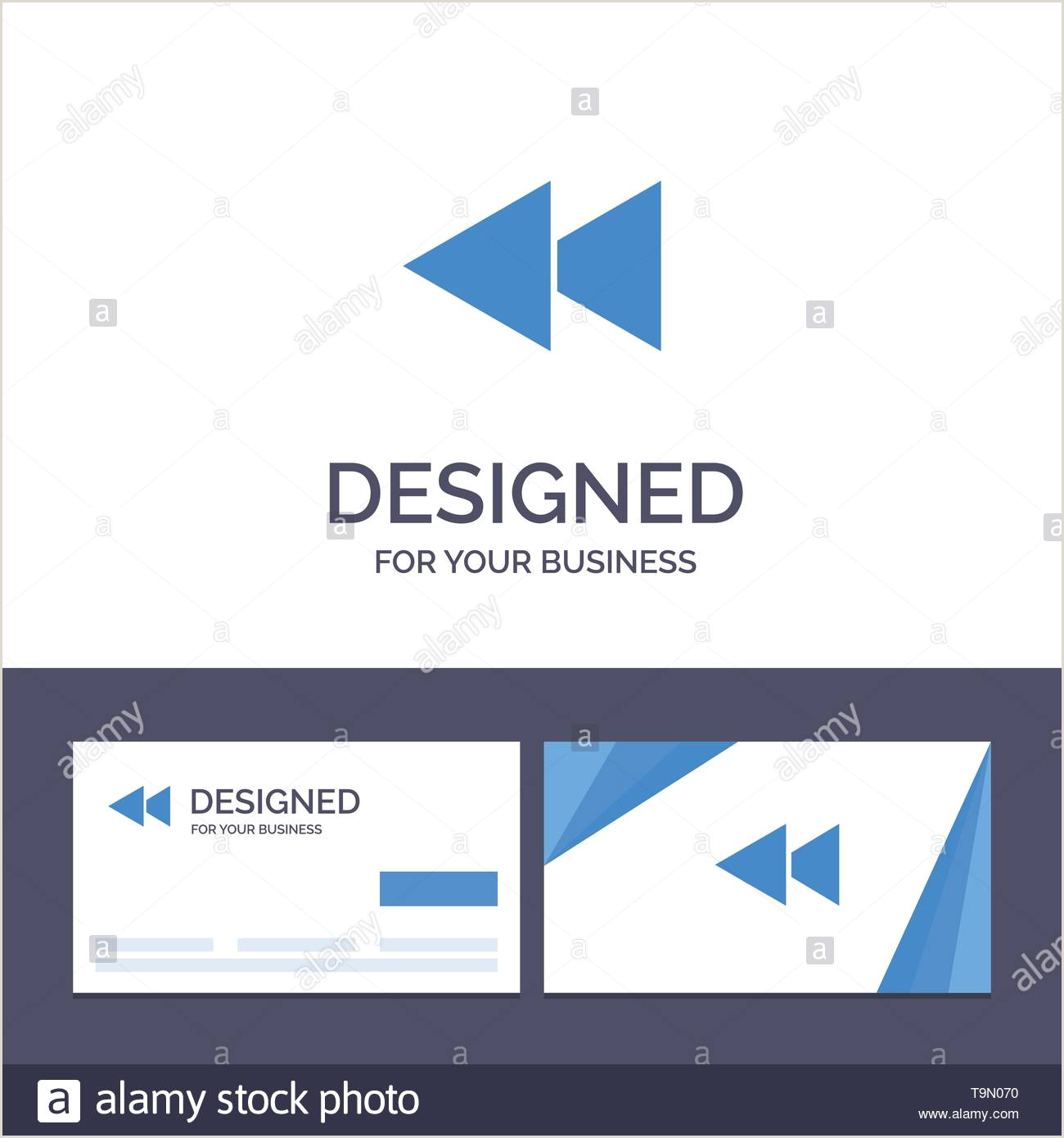 Business Cards Back Creative Business Card And Logo Template Arrow Back