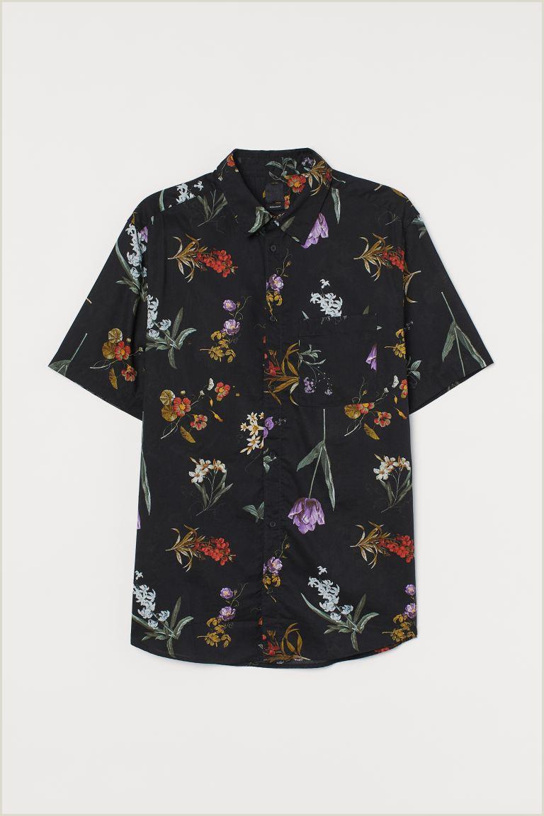 Business Cards Back Regular Fit Cotton Shirt
