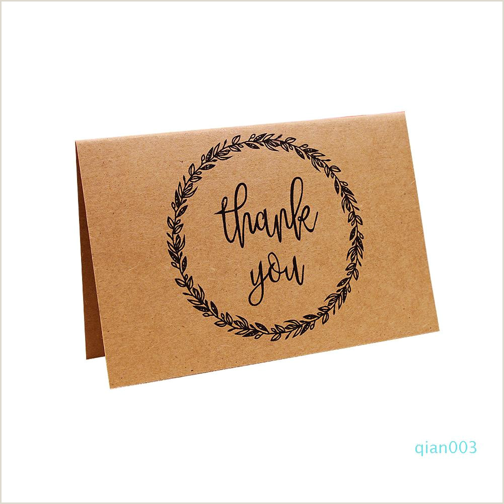 Business Cards Best Deals Business Retro Thank You Writable Party Graduation Brown Paper Wedding Greeting Card Nostalgic With Envelope Printed Personalized Greeting Cards