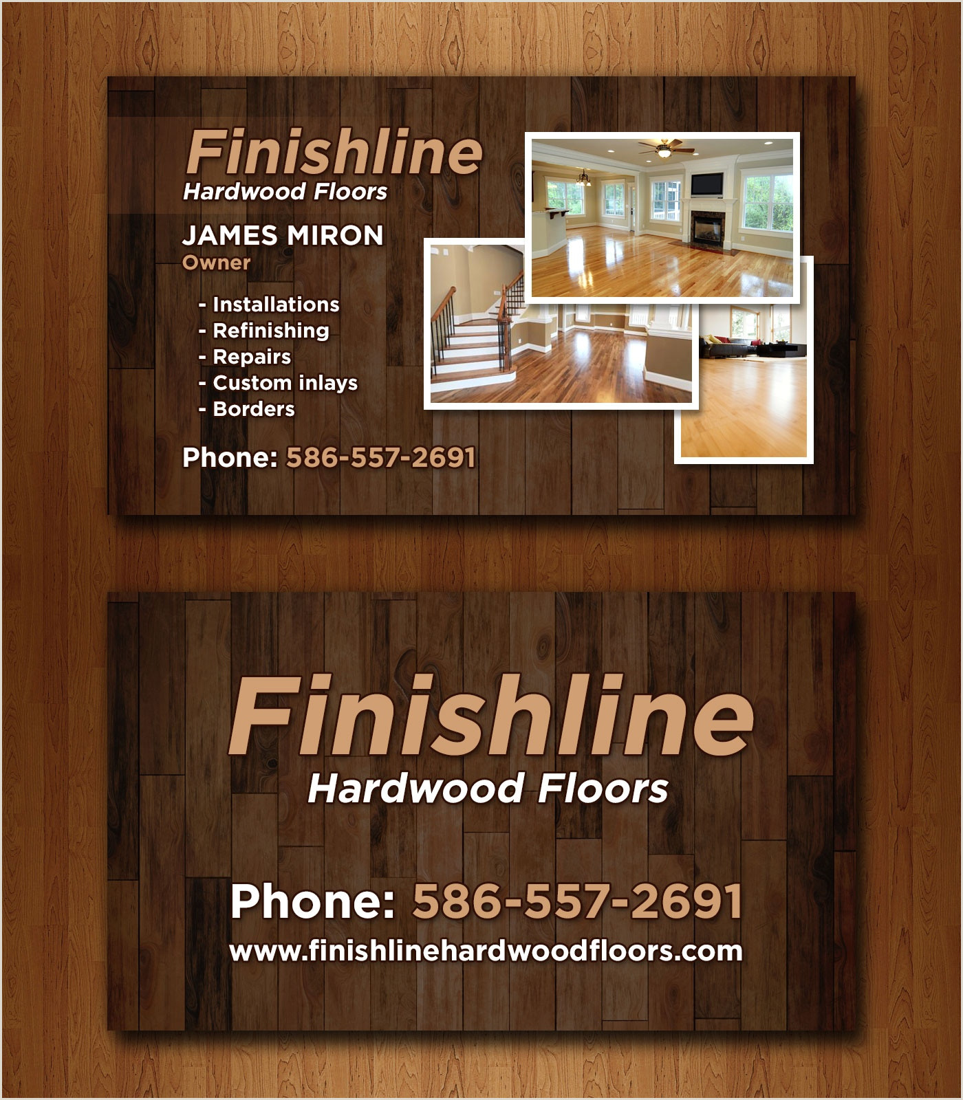 Business Cards Example 14 Popular Hardwood Flooring Business Card Template